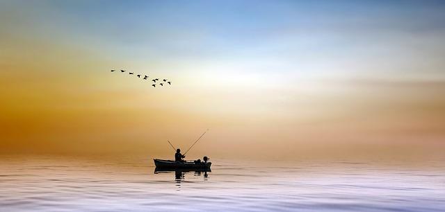 angler auf dem meer